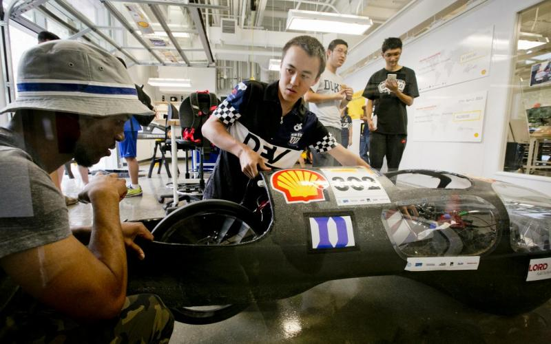 The Duke Electric Vehicle team competes in the prototype division of the Shell Eco-Marathon each spring