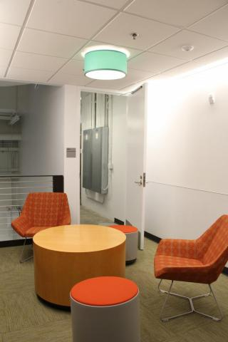 Small collaboration area on the Upper Level