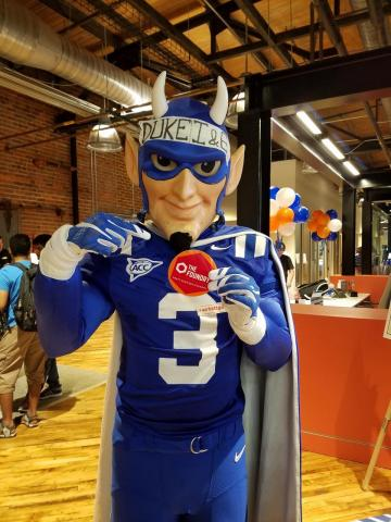The Blue Devil knows where to go to build ideas from the ground up!