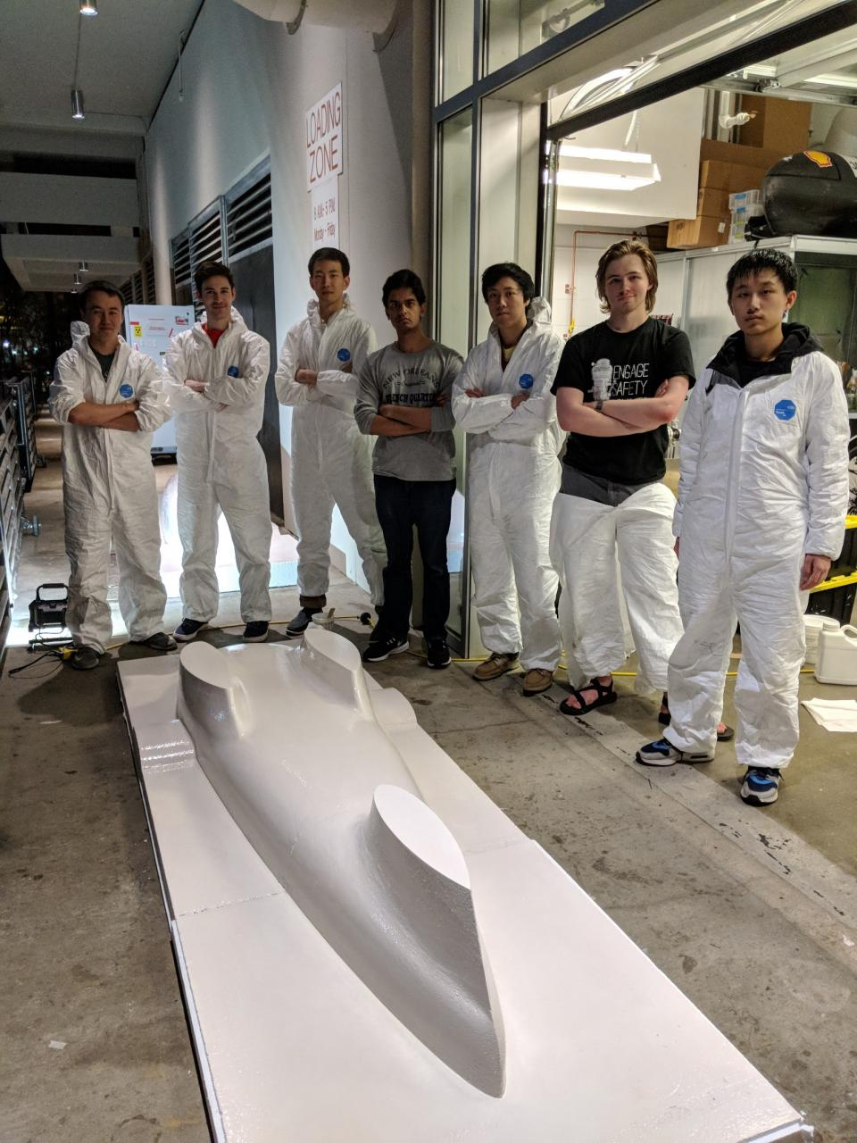 Duke Electric Vehicle forming their vehicle shell
